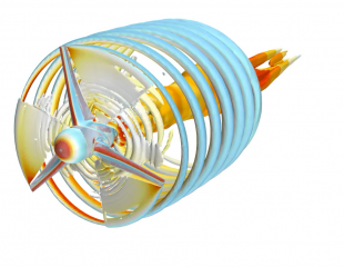 CFD simulation of a turbine with morphing blades