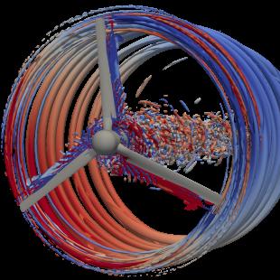 Detached eddy simulation of a tidal turbine (with Riccardo Broglia and Antonio Posa)